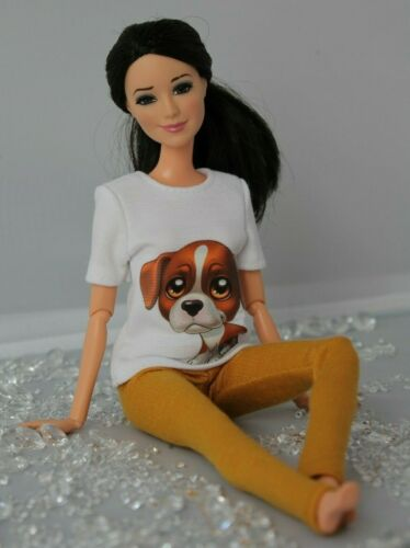 T-shirt and Leggings for Dolls. №254 Clothes for Barbie Doll