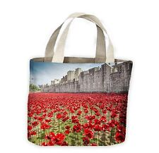Tower of London Poppies Tote Shopping Bag For Life - Poppy