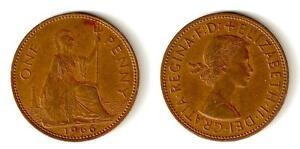 BRITISH ONE PENNY COIN 1966 QUEEN ELIZABETH II - Haslemere, Surrey, United Kingdom - BRITISH ONE PENNY COIN 1966 QUEEN ELIZABETH II - Haslemere, Surrey, United Kingdom