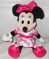 Minnie Mouse plush stuffed DISNEY Pink Dress Snowflake Shoes Bow BABY SAFE 11""