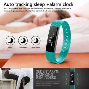 Reloj de pulsera Fitness de actividad Color Smart Health Deportes banda Iphone Android
