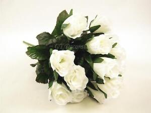 12 wholesale artificial silk flowers creamoff white rose bud bushes image is loading 12 wholesale artificial silk flowers cream off white mightylinksfo
