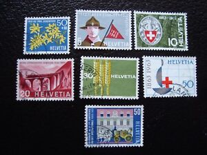 Switzerland-Stamp-Yvert-and-Tellier-N-704-A-710-Obl-A1-Stamp-Switzerland-E