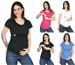 2 in1 Stillshirt Umstandsshirt Stilltop Stillbluse Umstandsmode Stilltop 3074