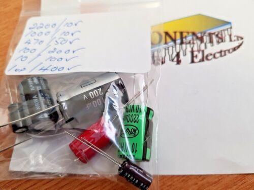 Radial Elec Capacitor Mixture 105 deg C  2200UF//1000UF//470UF//100UF//10UF//1UF E044