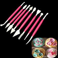 8pcs Set Fondant Cake Decorating Flower Modelling Clay Craft Sugarcraft Cutter