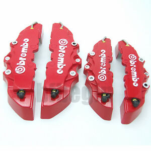 Front-and-Rear-New-Universal-Red-3D-Brembo-Style-Disc-Brake-Caliper-Covers-4pcs