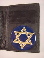 JEWISH STAR of DAVID BLACK LEATHER BIFOLD CREDIT CARD WALLET ID NEW