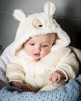 Unisex Baby Soft Luxury Fleece Bear Romper - (3-6 Months)