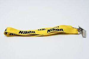 Photo-Plus-2019-Nikon-Camera-Lanyard-Neck-Key-Batch-ID-Holder-Clip-Yellow
