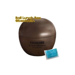 Details about Round Lacquer Bento Box 2 tier with Cold Gel Pack Cute Ball