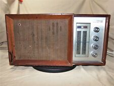 Vintage 1960s Panasonic Rf-7487 Transistor Radio Working W Wood Case Am FM 7768