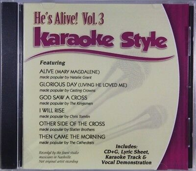 Karaoke Cdgs, Dvds & Media Punctual He's Alive Volume 3 Christian Karaoke Style New Cd+g Daywind 6 Songs Musical Instruments & Gear