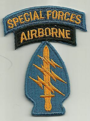 """ARMY 5TH SPECIAL FORCES AIRBORNE MILITARY PATCH Mini 3"""" x 2"""" 5th SF A/B"""