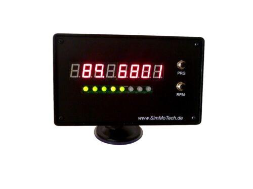 Sim Dash TM1638 Black Edition Telemetrie Monitor für Rennsimulator