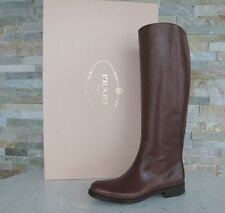 luxus Prada Stiefel Gr 36 Damen boots Schuhe shoes 1W948D braun  NEU UVP 1150 €