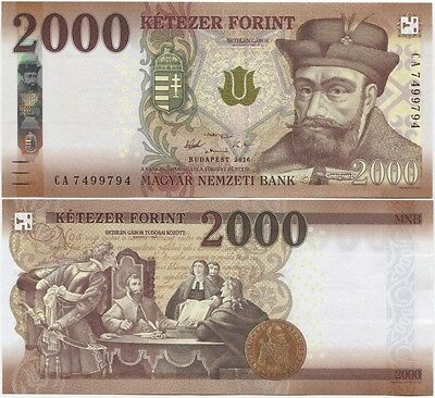 2018 P NEW COLOR SECURITY UNC HUNGARY 1000 1,000 FORINT 2017