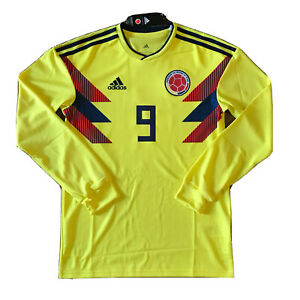 Details about 2018 Colombia Home Jersey #9 Falcao Small ADIDAS World Cup long sleeve NEW