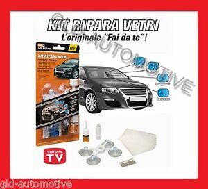 Kit Ripara Vetri Rotti Parabrezza Auto Camion Camper Scheggiature MR  REPAIR