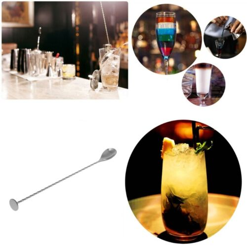 Stainless Steel Cocktail Mixer Stirrer Bar Puddler Martini Stirring Spoon Ladle