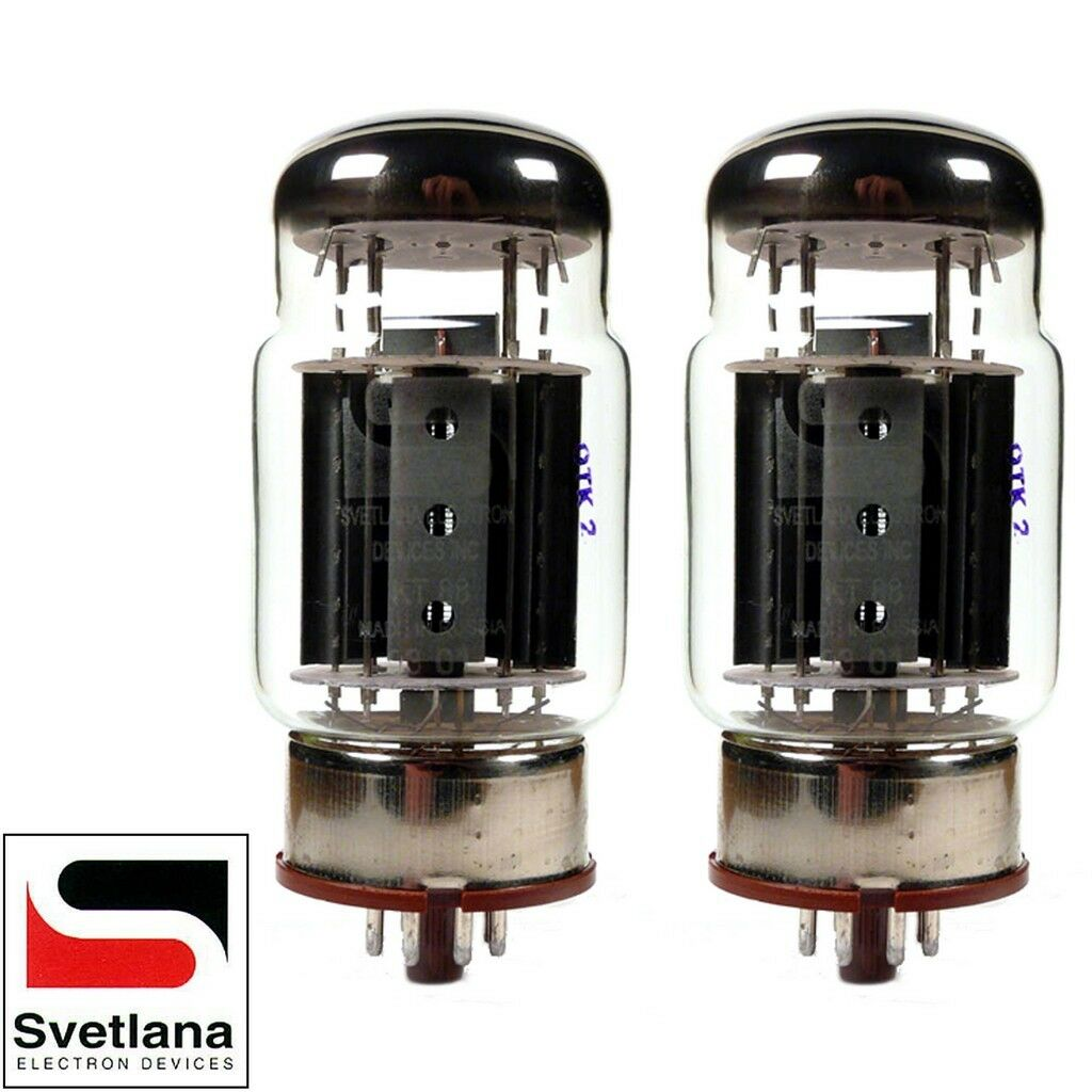 Brand New Plate Current Matched Pair 2x Svetlana KT88-SV Gold Grid Vacuum Tubes