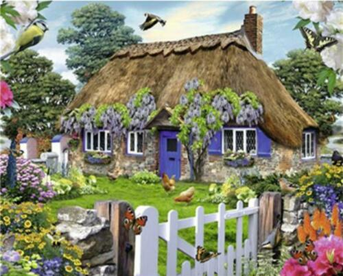 Vintage Cottage Van-Go Paint-By-Number Kit England