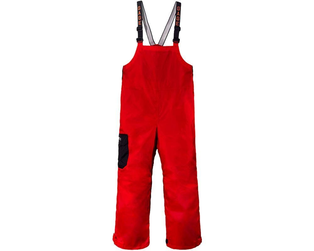 Grundens Gage Weather Watch Bib Trousers - Red - 2XL