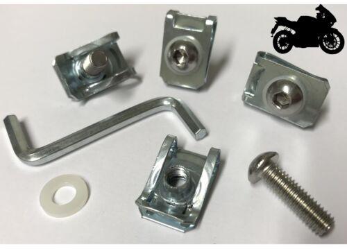 10x Motor Bike Fairing Panel Clips Steel Bolts Spire M6 U C Lug Nuts Fixing Trim