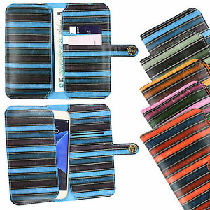Vintage-Stripes-PU-Leather-Wallet-Case-Cover-Sleeve-Holder-for-Vernee-Mars-Phone