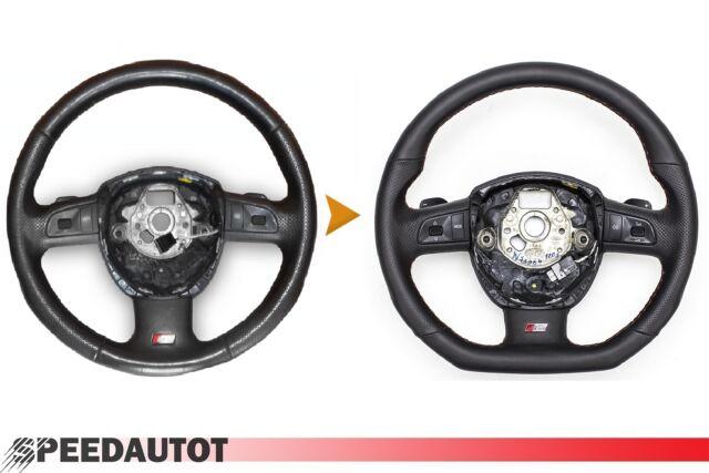 OEM Audi A4 S4 B6 Quattro Tiptronic Sports Leather Steering Wheel # 8E0419091AJ