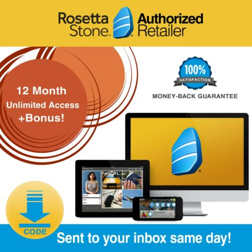 Rosetta Stone® SPANISH HOMESCHOOL 12 MONTH 1-5 PRINTABLE WORKBOOKS HEADSET!
