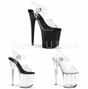 PLEASER-FLAMINGO-808-PLATFORM-POLE-DANCING-STILETTO-HEEL-SHOES-SANDALS