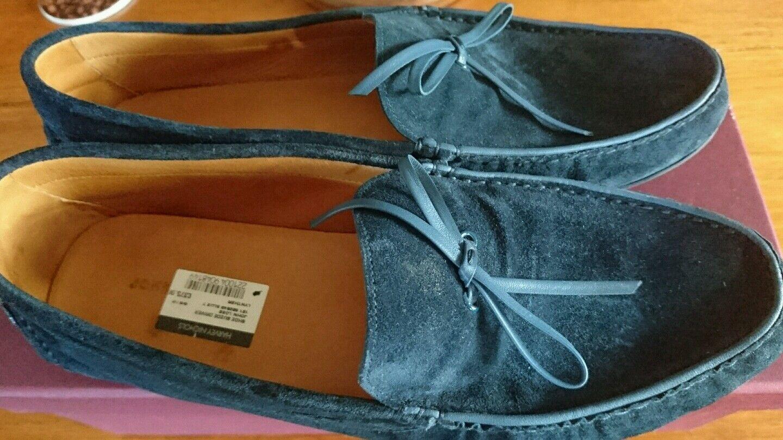 Une nouvelle marque @  @Pair de fait à Homme la main John Lobb Homme à Slip On Chaussures De Daim Bleu 8b59d3