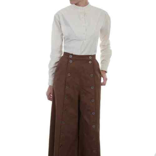 Scully Split Riding Pants Skirt Size 12 TAN Button