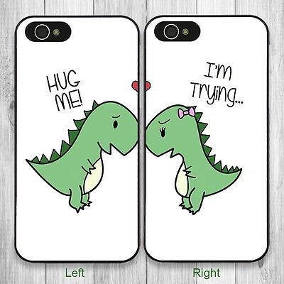 EC Best Friends BFF Dinosaurs Lover Phone Case for iPhone 6S 7 8 6 Plus 5S X SE