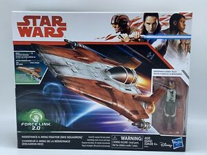 Star Wars Force Link 2.0 Resistance A-wing Fighter and Resistance Pilot Figure