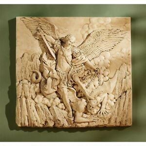 St-Michael-The-Archangel-Sculptural-Design-Toscano-High-Relief-Wall-Frieze