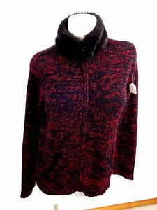 ae2486f7e4 Image is loading CRAZY-HORSE-COLLECTION-WOMENS-BLACK-RED-ACRYLIC-KNIT-