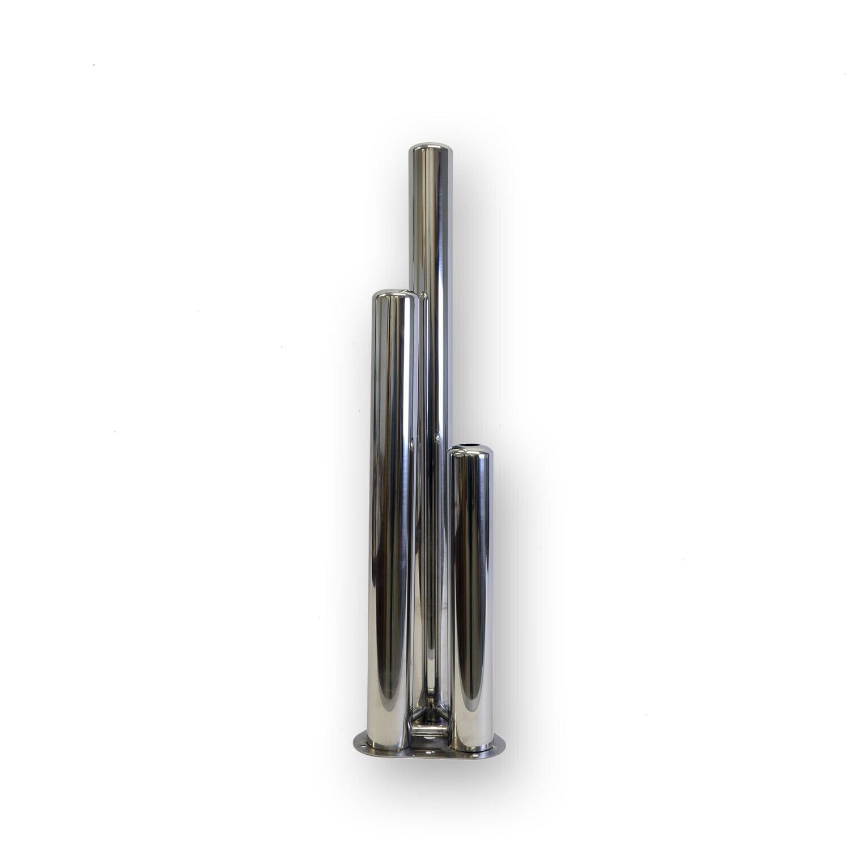 3 pilastri in acciaio inox per fontana da giardino 3er pilastri acqua gioco pilastri Fontana