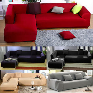 sectional sofa with removable covers   L-Shape Sofa Removable Stretch Sofa Slipcover Couch Pillow ...