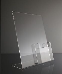 Clear-acrylic-8-5x11-sign-holder-display-with-tri-fold-brochure-holder