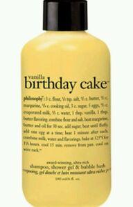 Image Is Loading NEW 6 OZ Philosophy VANILLA BIRTHDAY CAKE SHAMPOO