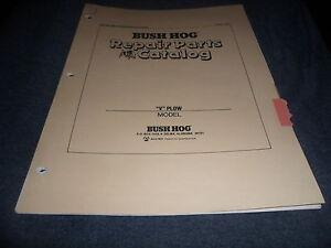 Drawer 6 Bush Hog Quot V Quot Plow Repair Parts Catalog Manual