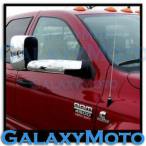 Triple Chrome Towing Mirror+Arm Cover 4pcs for 06-08 Dodge Ram 1500+2500+3500