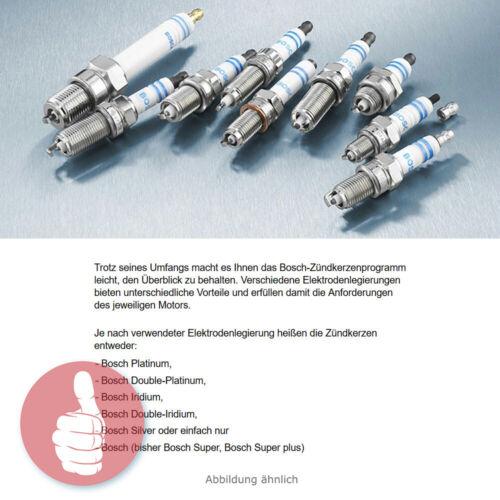 5 x Original BOSCH Zündkerzen Platinum 0242235743