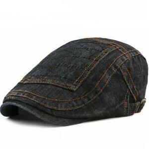 96f8bf897 Details about Newsboy Caps Fashion Beret Hat Denim Cotton Berets Hats Men  Flat Cap [AKIZON]