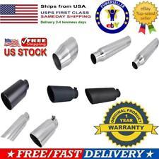 "2.5/""//3/""//4/""//5/"" Inlet 6/""//12/""//15/"" Long Diesel Exhaust Tip Chrome Stainless Steel"