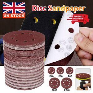 "125pcs 125mm - 5"" Sanding Discs 40 60 80 120 240 Grit Orbital Sander Pads Velc"
