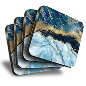 Set-of-4-Square-Coasters-Marbled-Art-Effect-Blue-Gold-Marble-21152