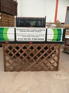 PRESSURE-TREATED-WOOD-TIMBER-GARDEN-FENCE-TRELLIS-PANEL-ALL-SIZES